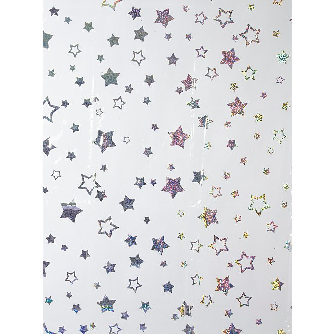 Hollographic Star Shower Curtain Reset