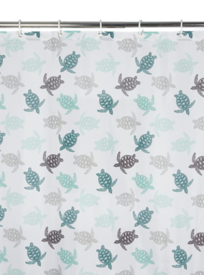 Turtle Fabric Shower Curtain Home Garden George At Asda