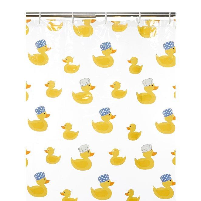Rubber Ducks Shower Curtain Reset