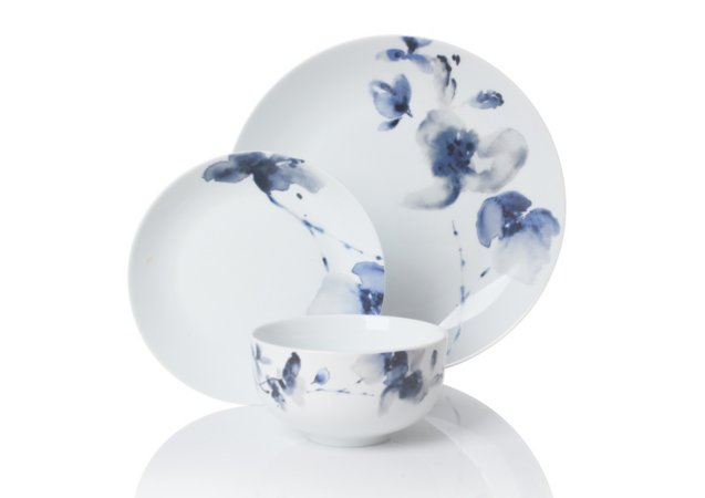 George Home Blue Floral Tableware Range