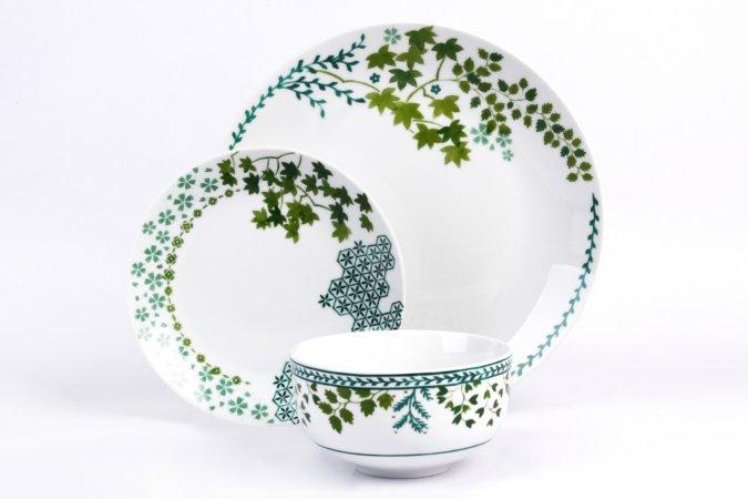 George Home Green Leaf Tableware Range
