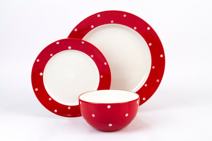 George Home Red Polka Dots Tableware Range