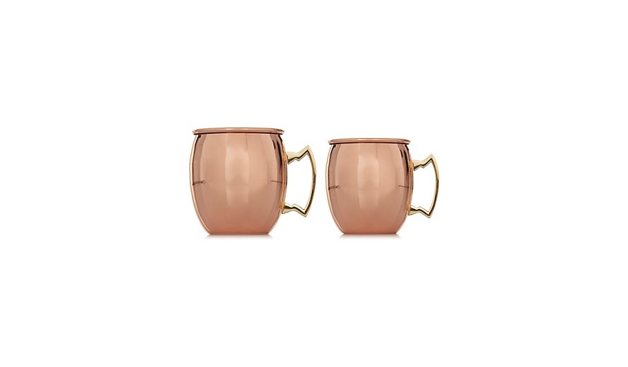 Copper Moscow Mule Mugs Set Of 2