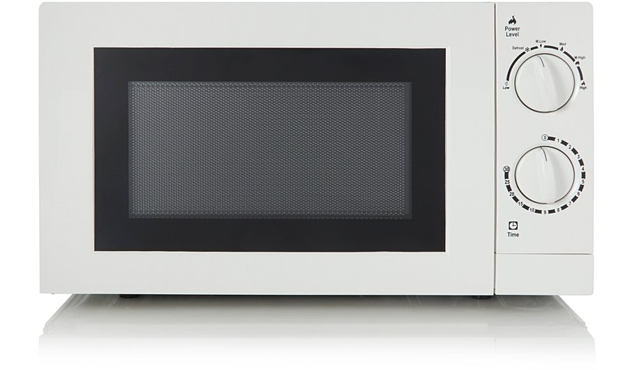 George Home 17l 700w Manual Microwave White Garden At Asda