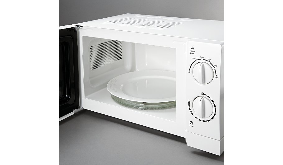 Manual Microwave White