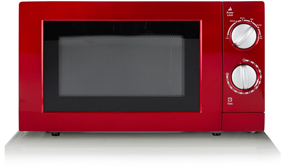 Manual Microwave Red