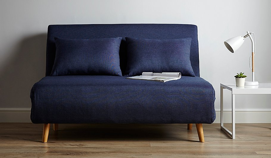 George home wrap sofa bed blue home garden george at for Wrap around sofa bed