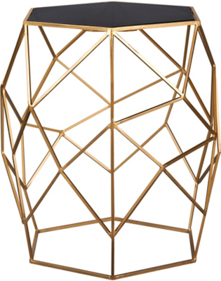 George Home Glass Top Geometric Side Table Home Garden