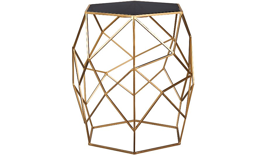 metal gold side table drops dewdrops dew