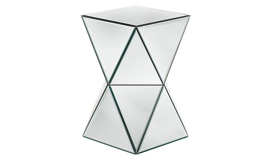 mirrored vegas mirror smoke bedside side table furniture chest bt