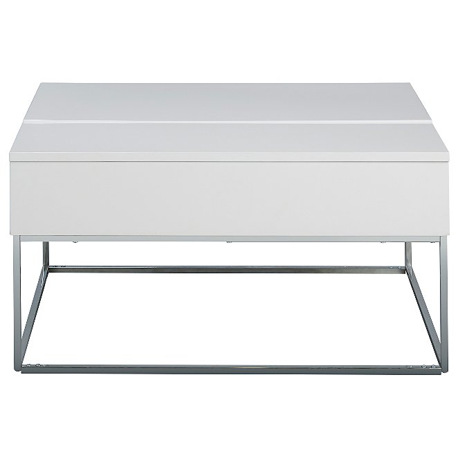 Storage Coffee Table Glossy White