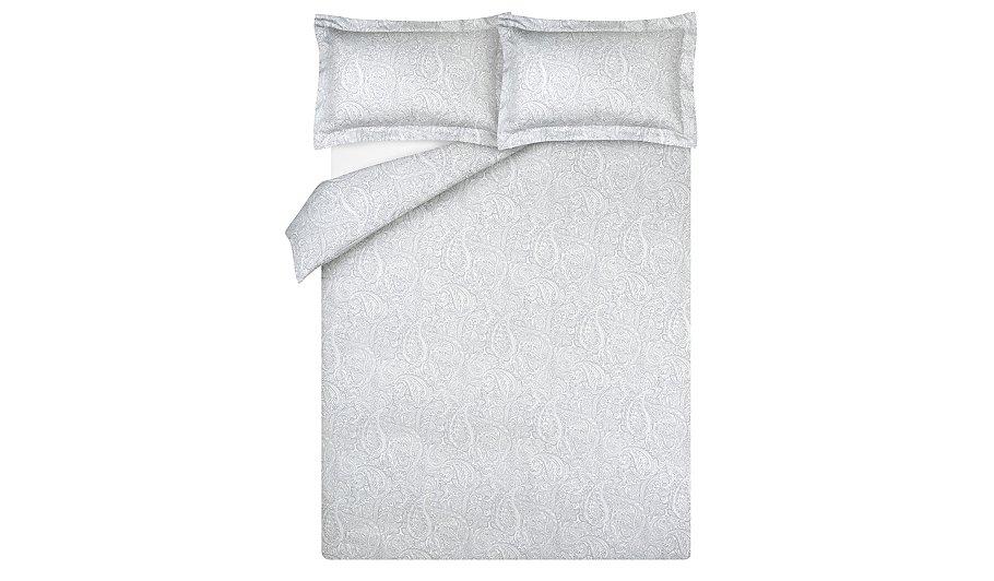 Luxury 100% Cotton Grey Damask Duvet Cover | Home & Garden ...