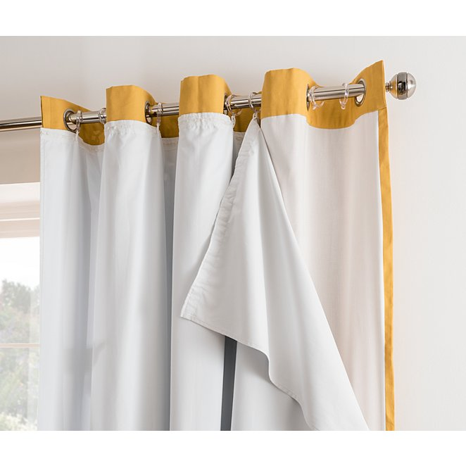 Blackout Curtain Lining White Home, Lined White Curtains