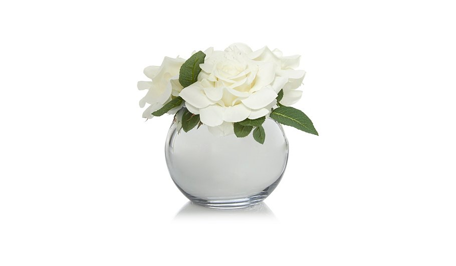 George Home Roses In Silver Vase Home Garden George At Asda