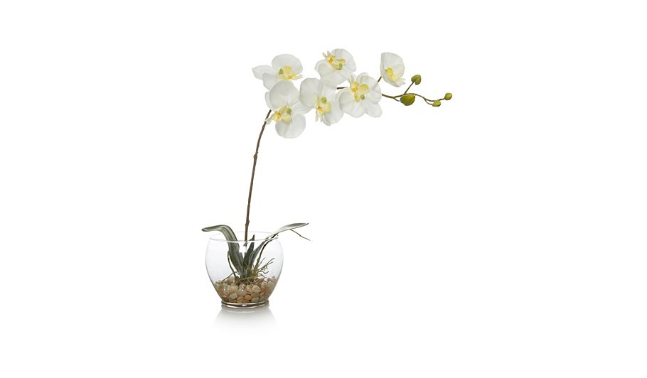 George Home Artificial Orchids In Vase Home Amp Garden