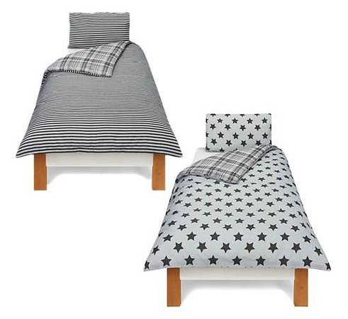 Check & Stars Twin Pack Bedding Range