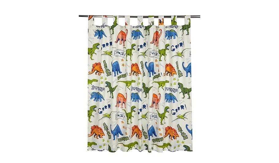 Dinosaur Print Curtains 66x54 Inch