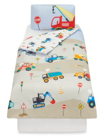 Construction Toddler Bedding Range