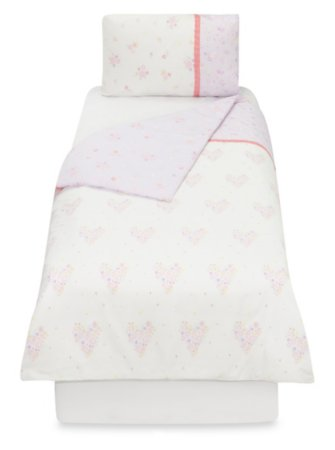 Floral Hearts Toddler Bedding Range