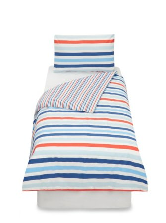 Reversible Blue Stripe Toddler Bedding Range
