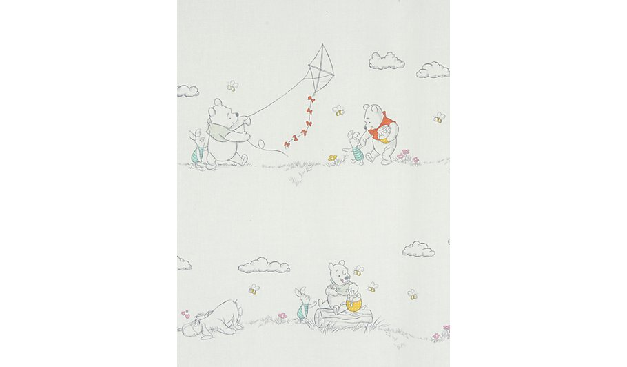 Winnie the pooh curtains home garden george at asda winnie the pooh curtains 66x54 inch mozeypictures Images