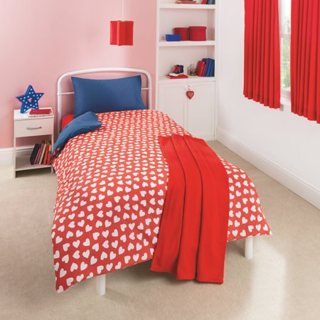 Reversible Heart & Polka Dot Bedding Range