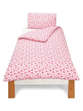 Pale Pink & Hot Pink Hearts Bedding Range