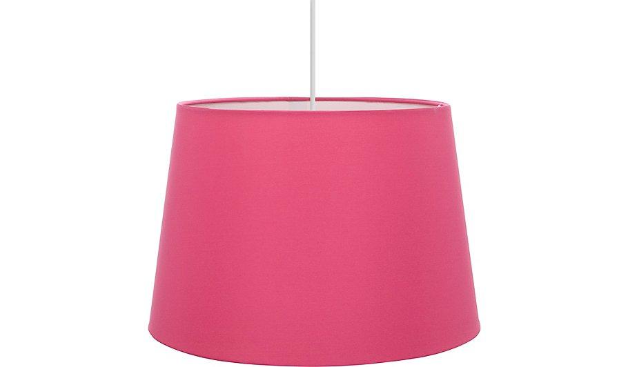 Hot pink ceiling light shade home garden george hot pink ceiling light shade aloadofball Images