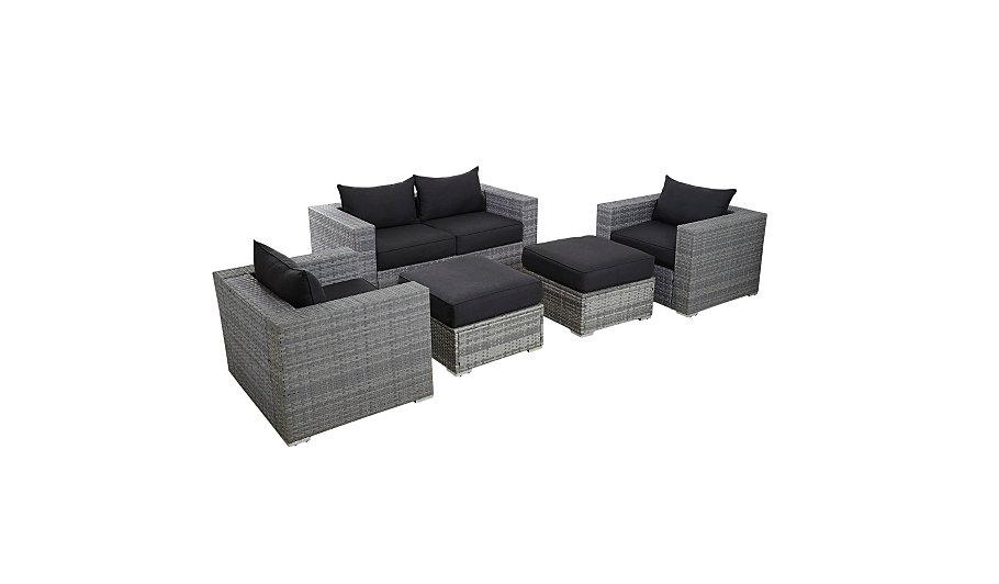 Borneo Piece Sofa Set Grey And Charcoal Home Garden George