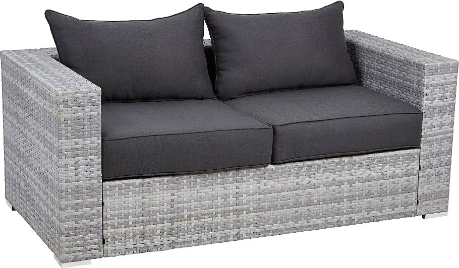 Borneo Seater Sofa Grey And Charcoal Home Garden George