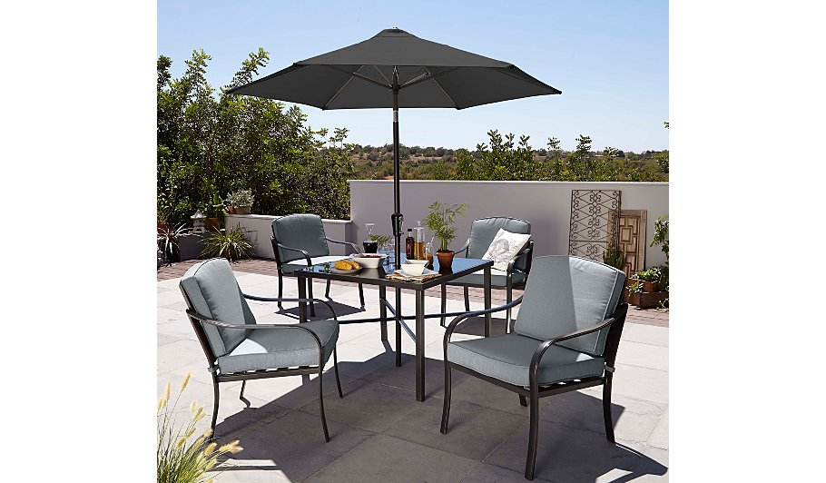Double clicktap to zoom or select Image to load. Haversham Classic 6 Piece Patio Set   Grey   Home   Garden   George