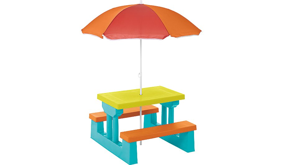 kids table and bench set home garden george at asda