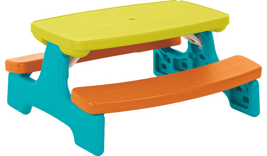 Kids large folding table and bench home garden george at asda kids large folding table and bench watchthetrailerfo