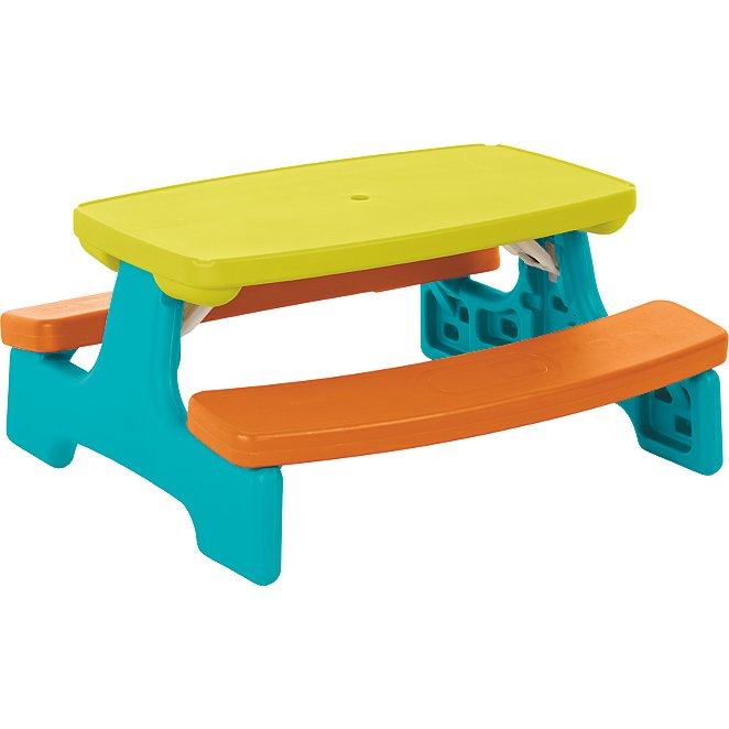 Kids Large Folding Garden Table And Bench