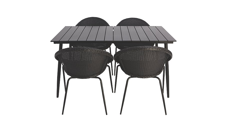 jarvis 5 piece patio set home garden george at asda