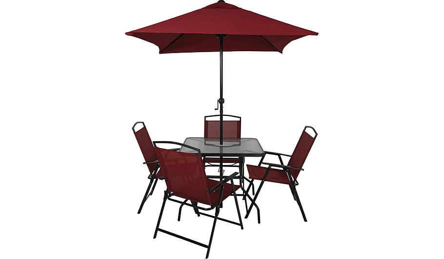 miami 6 piece patio set red home garden george