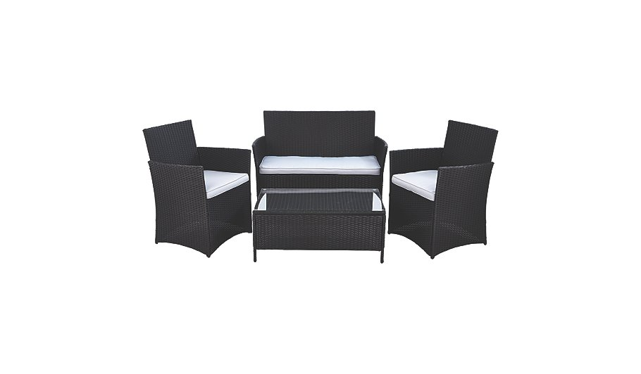. 4 Piece Orlando Lounge Set   Home   Garden   George at ASDA