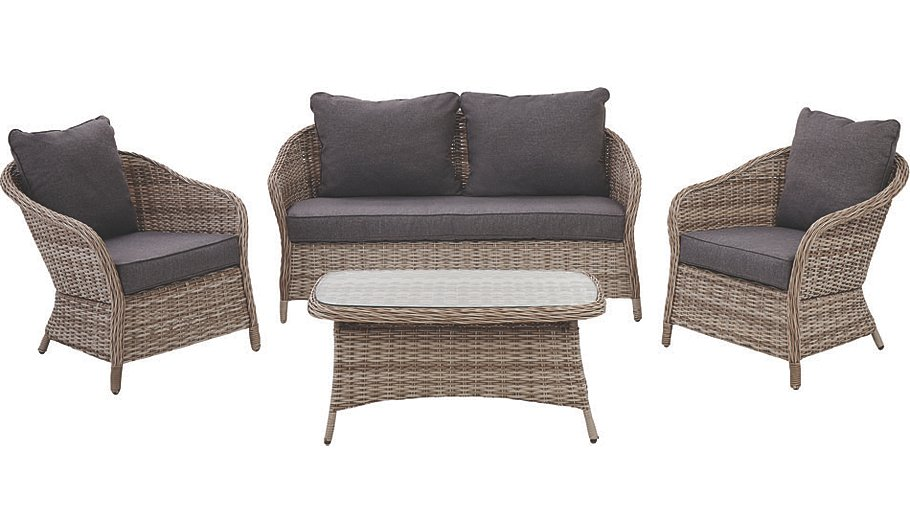 Double clicktap to zoom or select Image to load. Shore 4 Piece Sofa Set   Home   Garden   George at ASDA