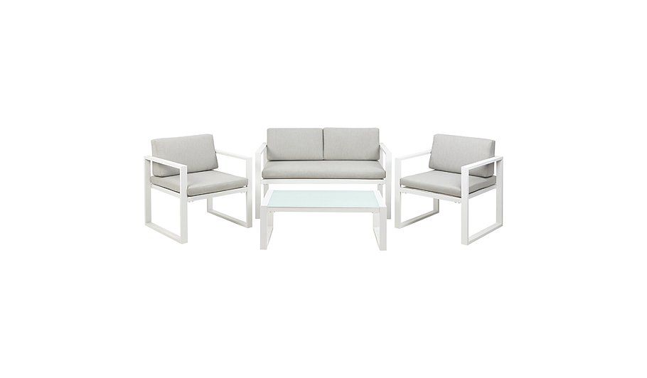 Ibiza 4 Piece Sofa Set   White and Grey   Home   Garden   George at ASDA. Ibiza 4 Piece Sofa Set   White and Grey   Home   Garden   George