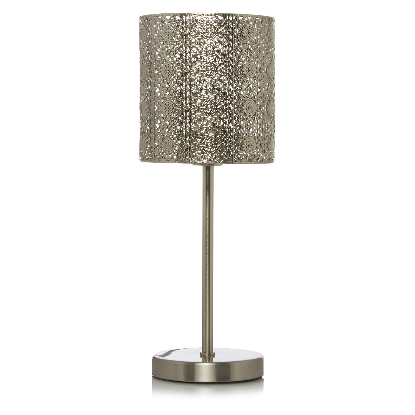 Moroccan silver lamp range table floor lamps george at asda moroccan silver lamp range loading zoom mozeypictures Gallery