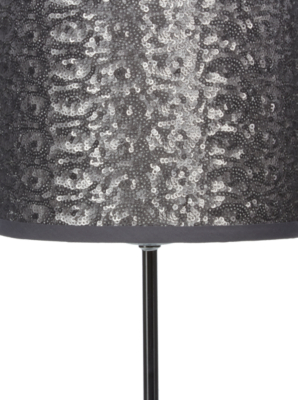 George Home Silver Sequin Table Lamp