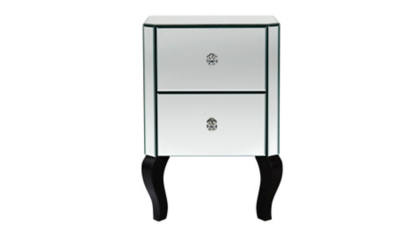 George Home Primrose Mirror Bedside Table | Home u0026 Garden | George at ASDA  sc 1 st  George : bedside cabinets mirrored - Cheerinfomania.Com