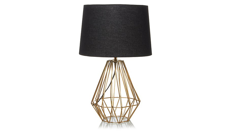 George home copper effect wire lamp home garden george at asda greentooth Choice Image