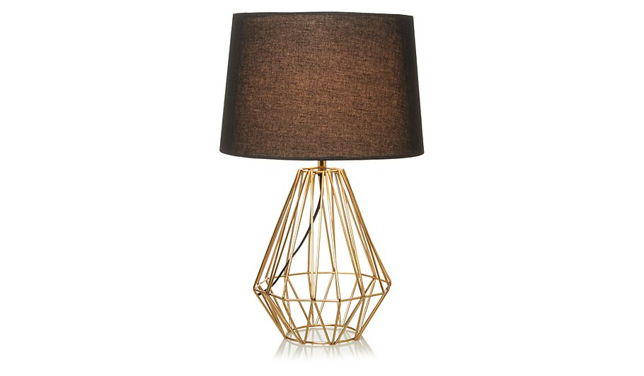 george home copper effect wire lamp home garden. Black Bedroom Furniture Sets. Home Design Ideas
