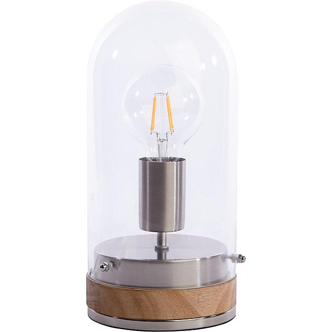 Copper Effect Bell Jar Lamp