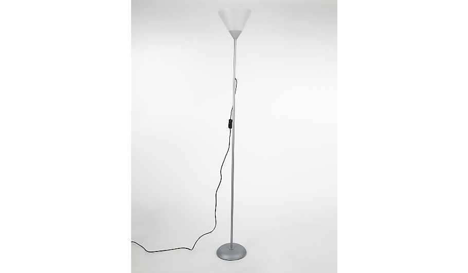 George home silver floor lamp home garden george at asda for Floor lamp asda