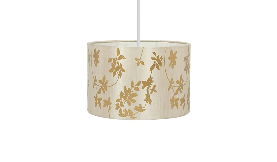 George home gold floral print light shade home garden george gold floral print light shade aloadofball Image collections