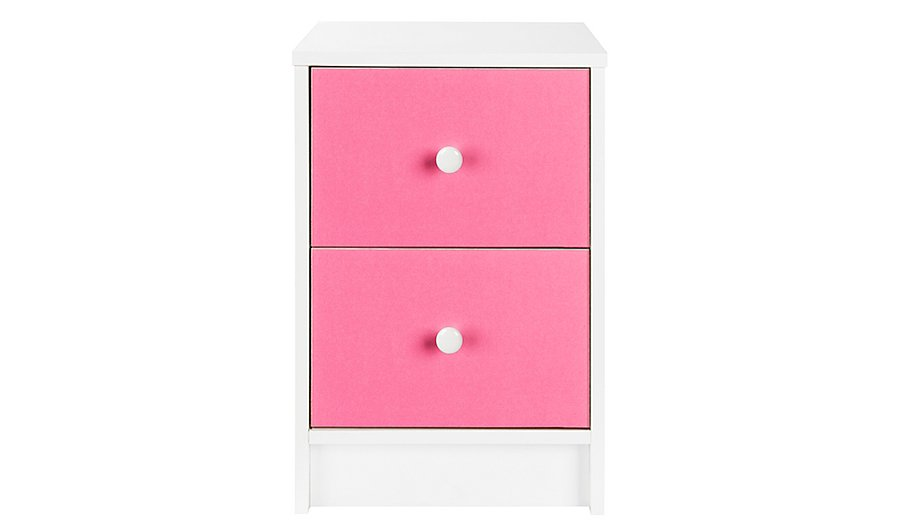 Colour Block Bedside Table - Pink | Furniture | George