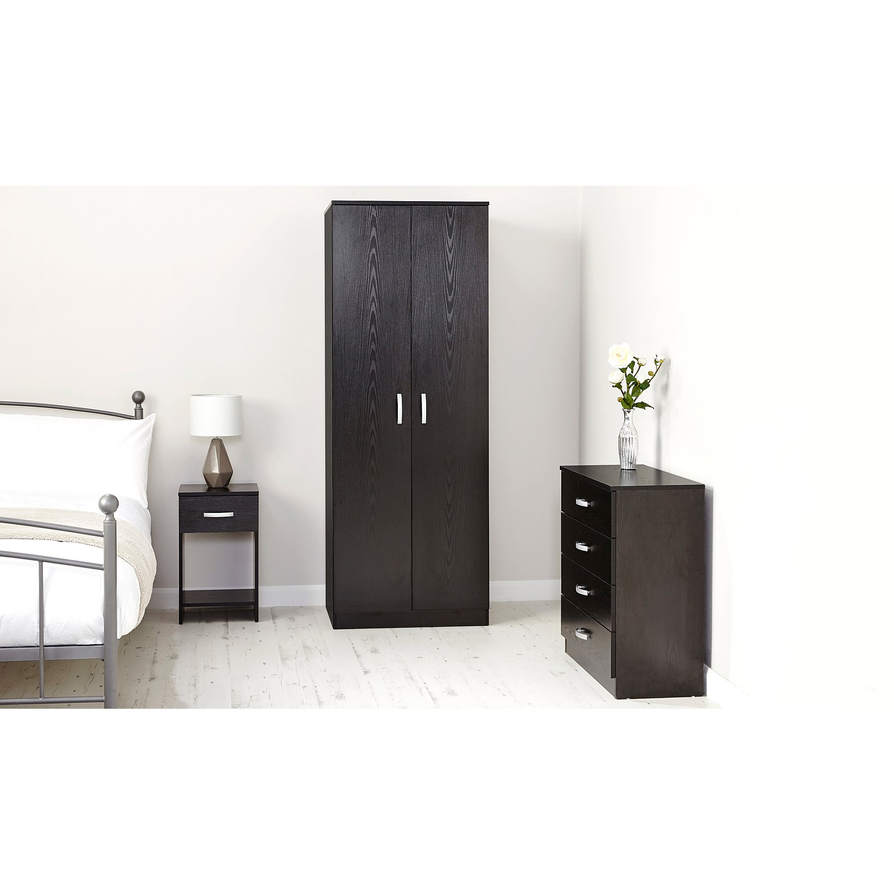 Marlow Wide 4 Drawer Chest Of Drawers Black Home Garden George