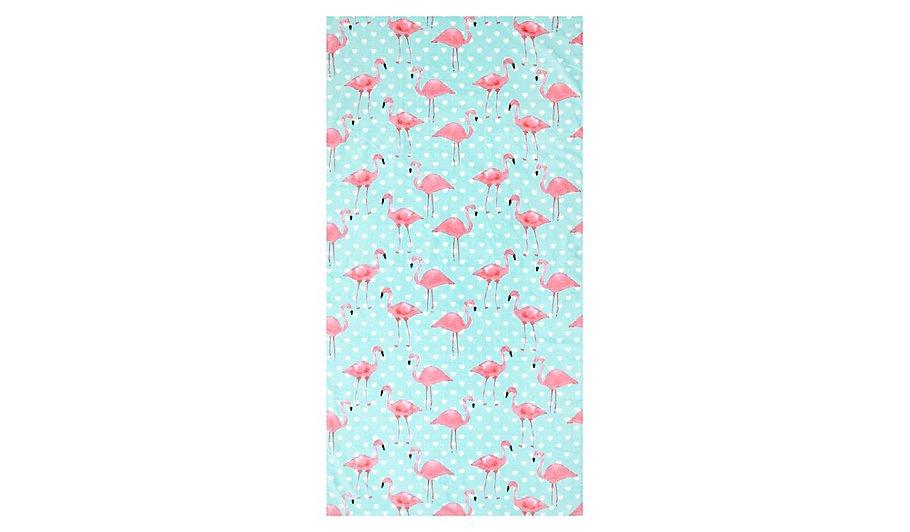 100 cotton flamingo printed beach towel home garden. Black Bedroom Furniture Sets. Home Design Ideas